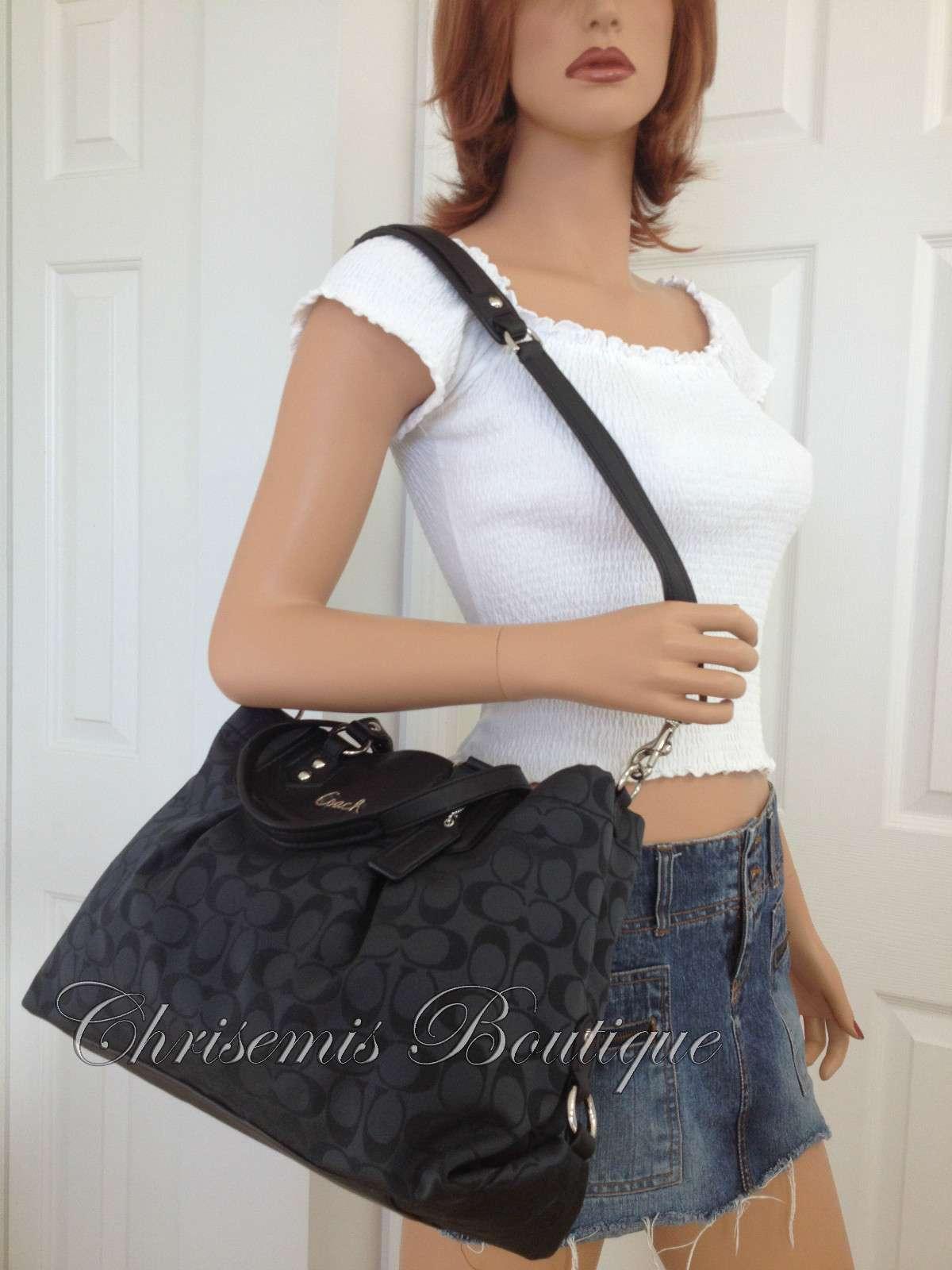 coach black purse outlet  coach black