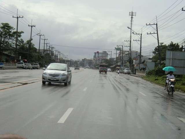 Chumpon, der Regen hört langsam auf